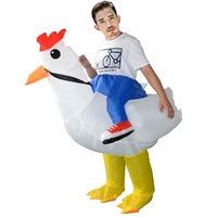 adult fancy dress halloween inflatable white rooster costume