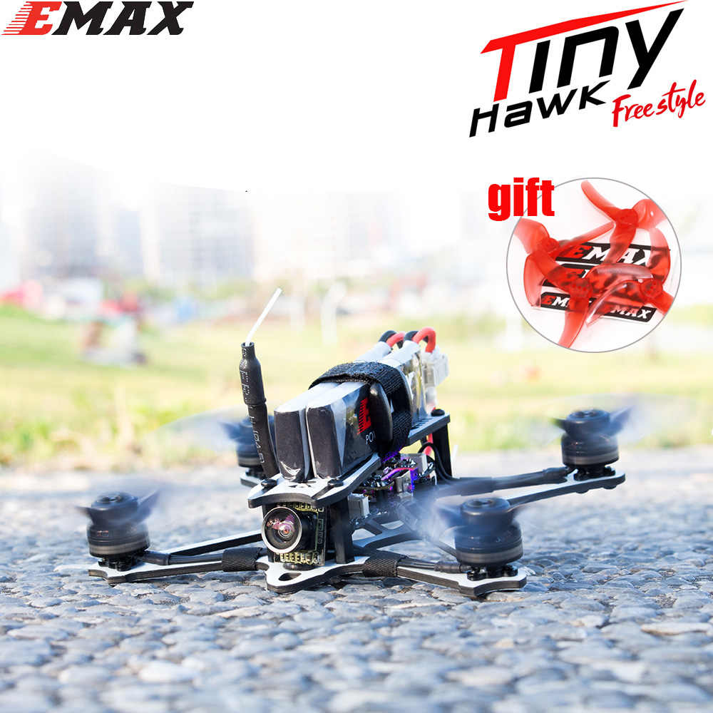 EMAX Tinyhawk Freestyle 115mm 2.5 pouces F4 5A ESC FPV course RC Drone BNF Version Frsky Compatible FPV Drone
