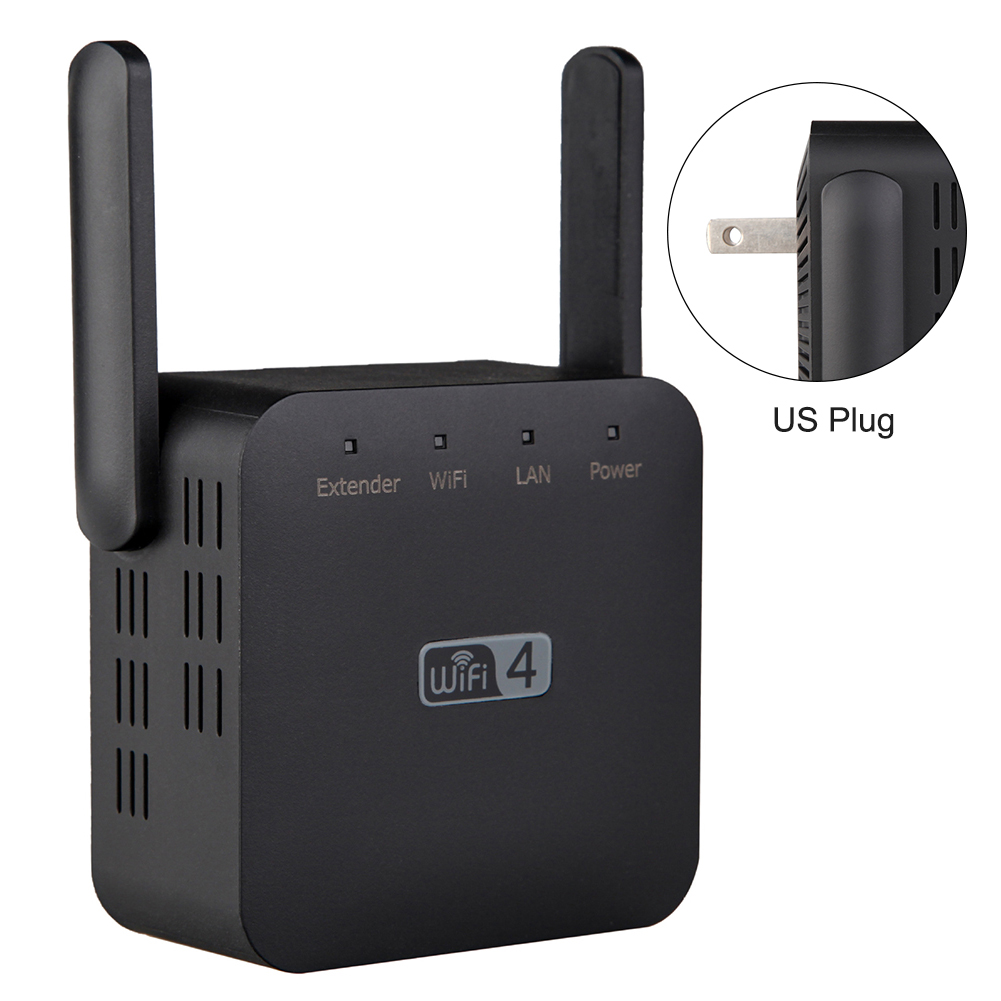 300Mbps Network Access Point Signal Amplifier Plug And Play High Speed Wireless Repeater Range Extender Gaming Office Universal