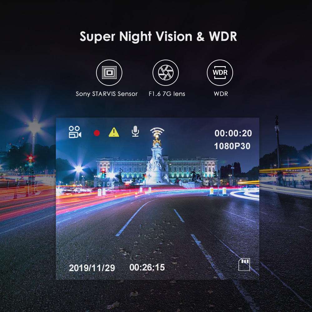 Car DVRS Dash Cam with Rear View Camera Car Video Recorder Full HD Night Vision 2 Camera Recorder with G-sensor A129DUO Dashcam 2