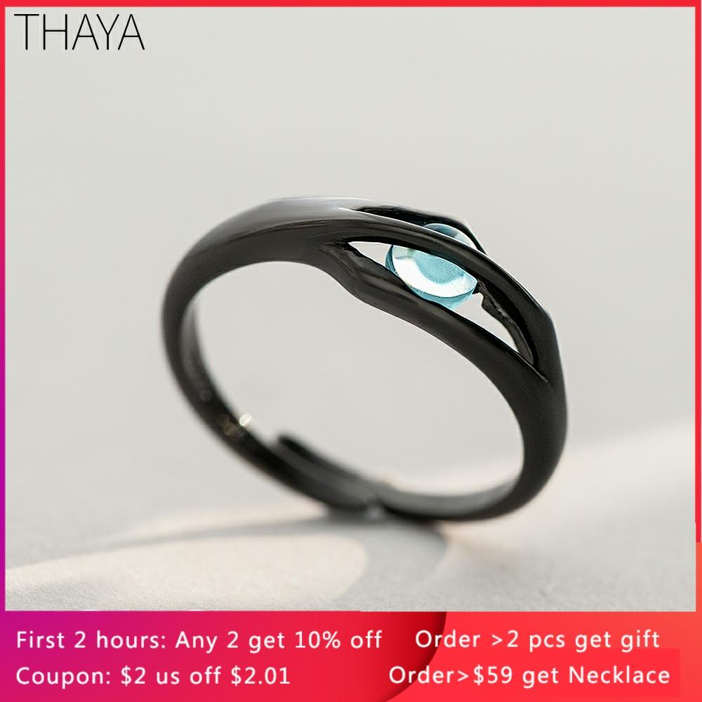 Thaya Original Design Sleeping Beauty Rings S925 Silver Handmade Crystal Rings for Woman Jewelry Gift