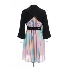 SONDR Chiffon Pleated Blazer Korea Fashion Patchwork Ruched