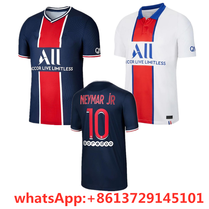 2020 2021 Psg Home And Away Football Jersey Neymar 20 21 Psg Home And Away Jersey Mbappe T Shirts Aliexpress