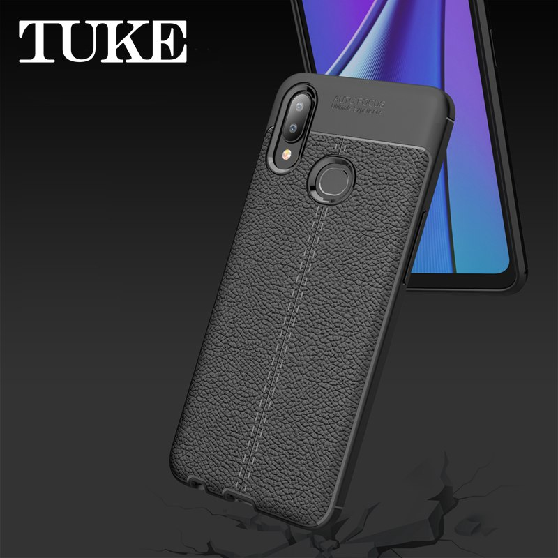 Litchi grain luxury <font><b>Plating</b></font> <font><b>TPU</b></font> silicone Shockproof phone case For <font><b>OPPO</b></font> <font><b>Reno</b></font> 2-Z Case cover image