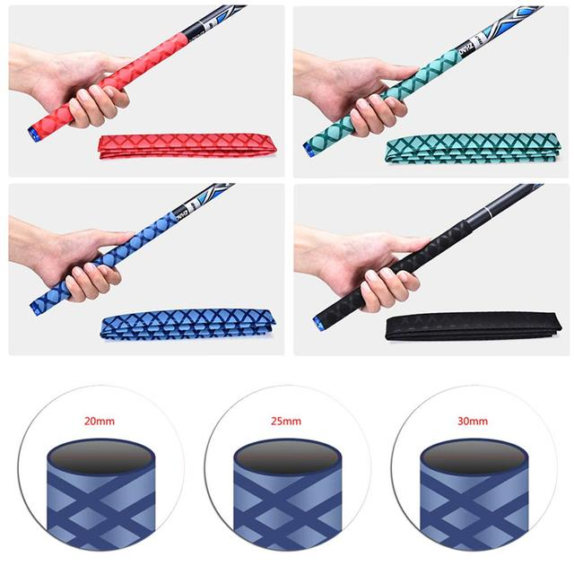 Baoblaze Pack of 2 waterproof anti-slip shrink tubing rod handle fishing rod bat sleeve handle