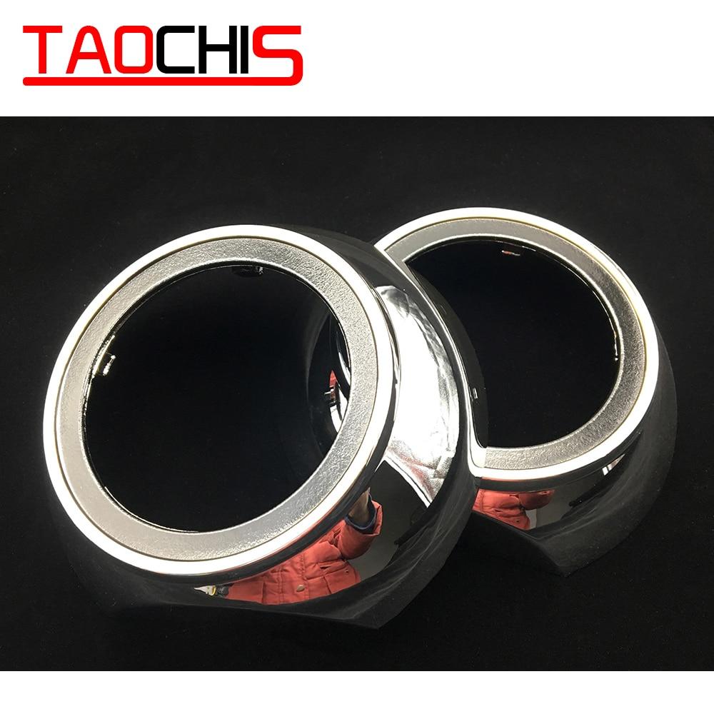 TAOCHIS Car Styling Shrouds Mask For 3.0 Inch HELLA 3R G5 Koito Q5 Bi Xenon Projector Lens Retrofit Head Light Volkswagen Tiguan