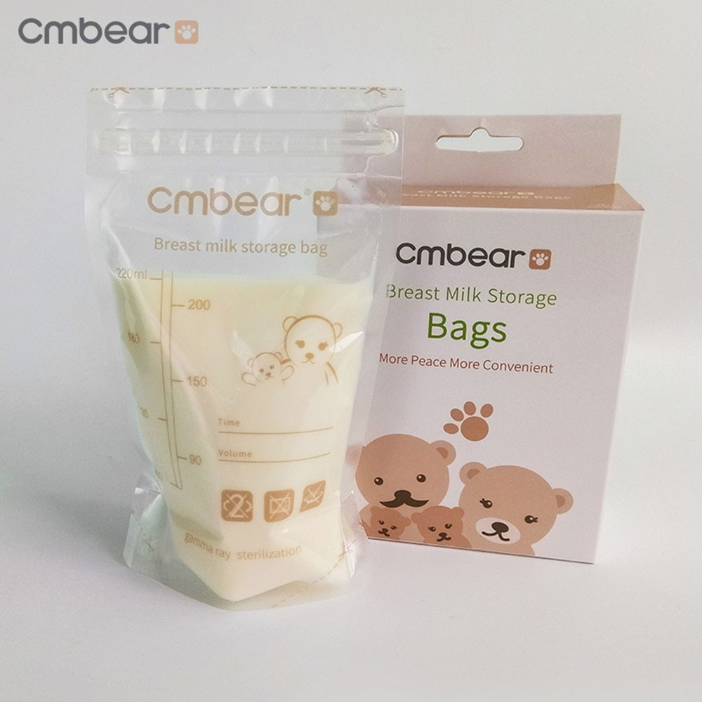 CMbear 30PCS 220ml Breast Milk Storage Bag BPA Mother Milk Freezer Baby Food Baby Safe Bags For Mother Breast Feeding