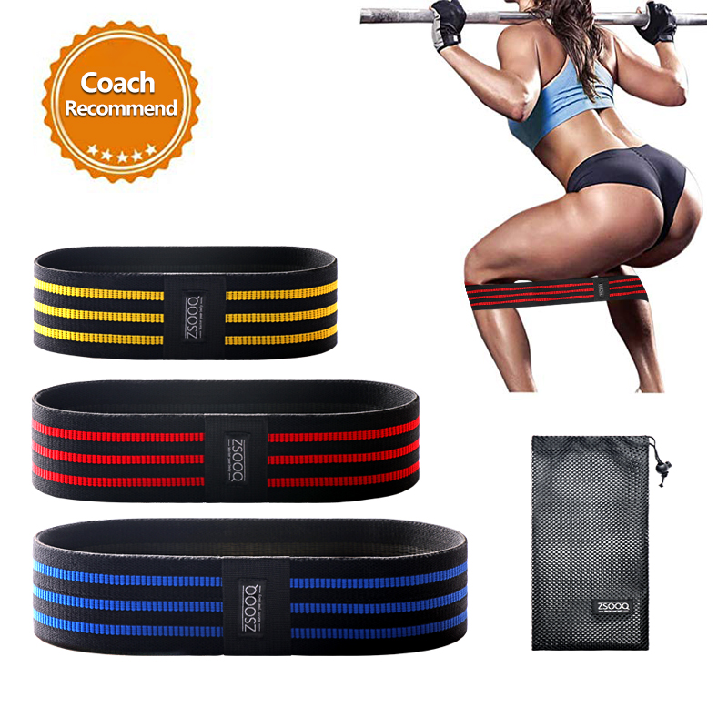 Strength Booty Resistance Bands Workout Fabric Loop Band Butt Exercise Bands For Hip Legs Thigh Glutes Non-Slip Deep Squat Band
