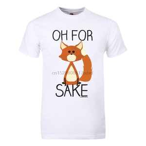 Oh For Fox Sake Mens White T-shirt Printed T-Shirt MenS Short Sleeve O-Neck T-Shirts Summer Stree Twear jacket croatia leather(China)
