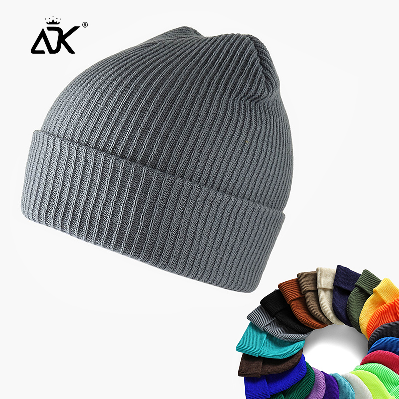 Hats Unisex Beanie 24 Colors Woman Winter Cap Ribbed Gorros Hip Hop Beanie For Woman Casual Bonnet Plain Knitted Autumn Hats