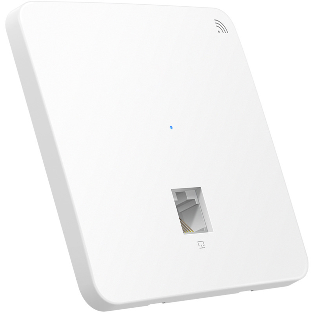 Wall Embedded Intelligent Office Wireless  Panel 300Mbps Easy Install Extender Hotel Indoor Home Access Point PoE Power Supply