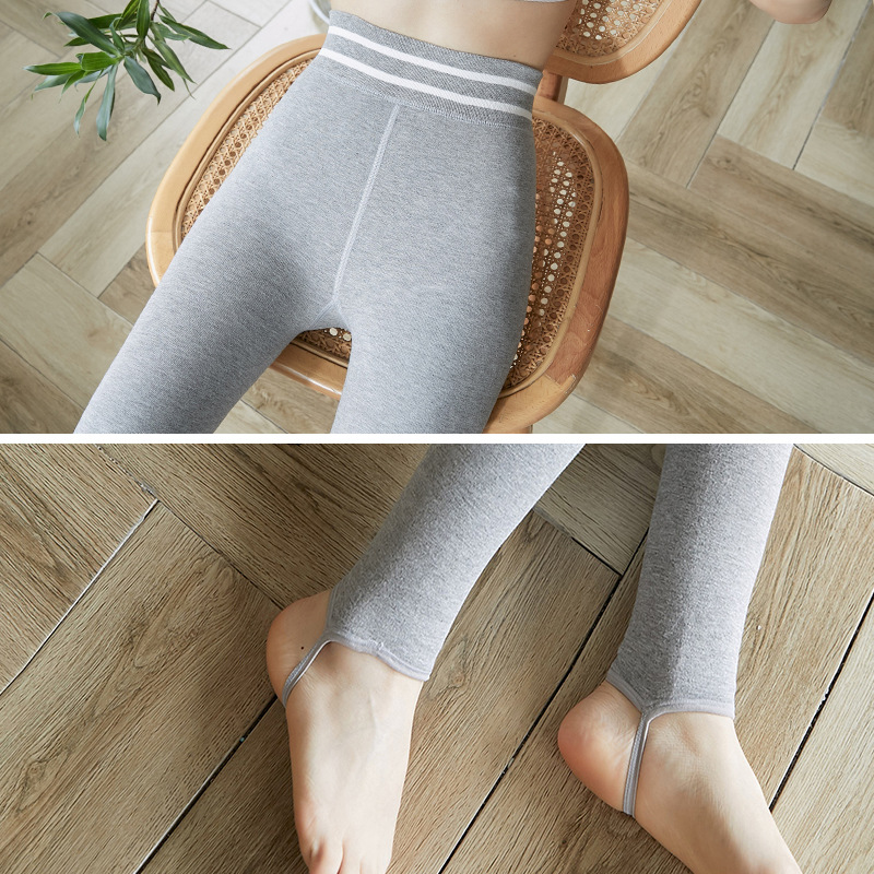 Autumn and winter yoga pants plus velvet to keep warm, women's outer wear high waist seamless slimming plus size leggings 6