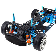Hot Aluminium Alloy & Carbon Shaft Drive 1/10 4Wd Touring Car Frame Kit for Tamiya Tt01 Tt01E Car(China)