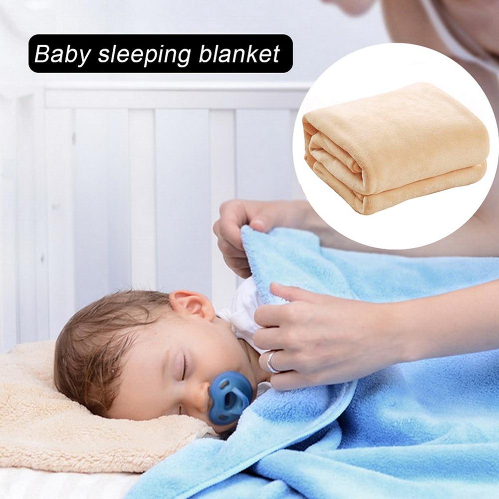 Urijk 70x100cm super quente sólido quente micro cobertor de velo de pelúcia bebê dormir lance cobertores sofá cama lance sofá cama
