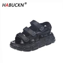 HABUCKN Women Sandals 2019 New Women's Muffin Platform Female Summer Shoes Student Fashion Beach Casual