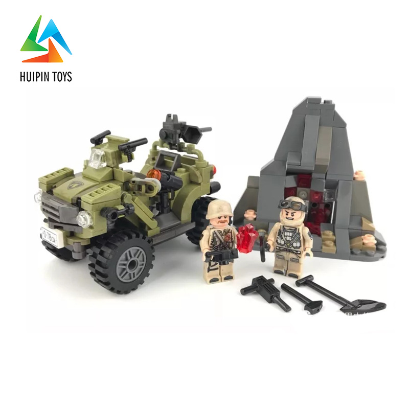 347Pcs XINGBAO Building Blocks XB-06010 Across The Battlefield:Oprah Sand Car Model Children Toys Bricks 4Px To DE