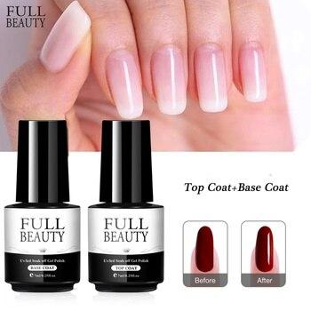 7ml UV Gel Nail Polish Top coat Base coat Transparent Soak Off Primer Gel Polish Long Lasting Gel Lacquer Nail Art CH1571-2