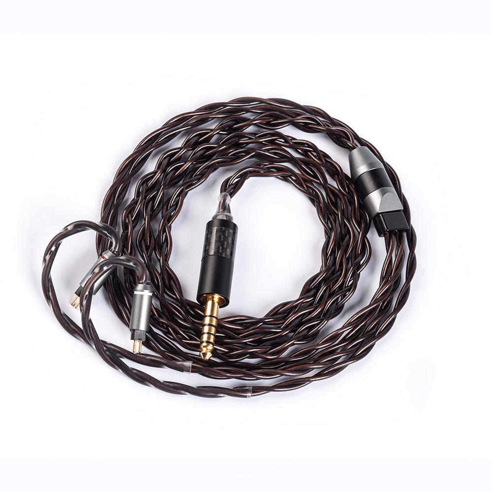 YINYOO IMPORT 4 Core 7N Single Crystal Copper <font><b>Cable</b></font> 2.5/3.5/4.4MM With MMCX/2pin/QDC TFZ For <font><b>KZ</b></font> <font><b>ZS10</b></font> ZSN PRO BLON BL-03 BL05 image