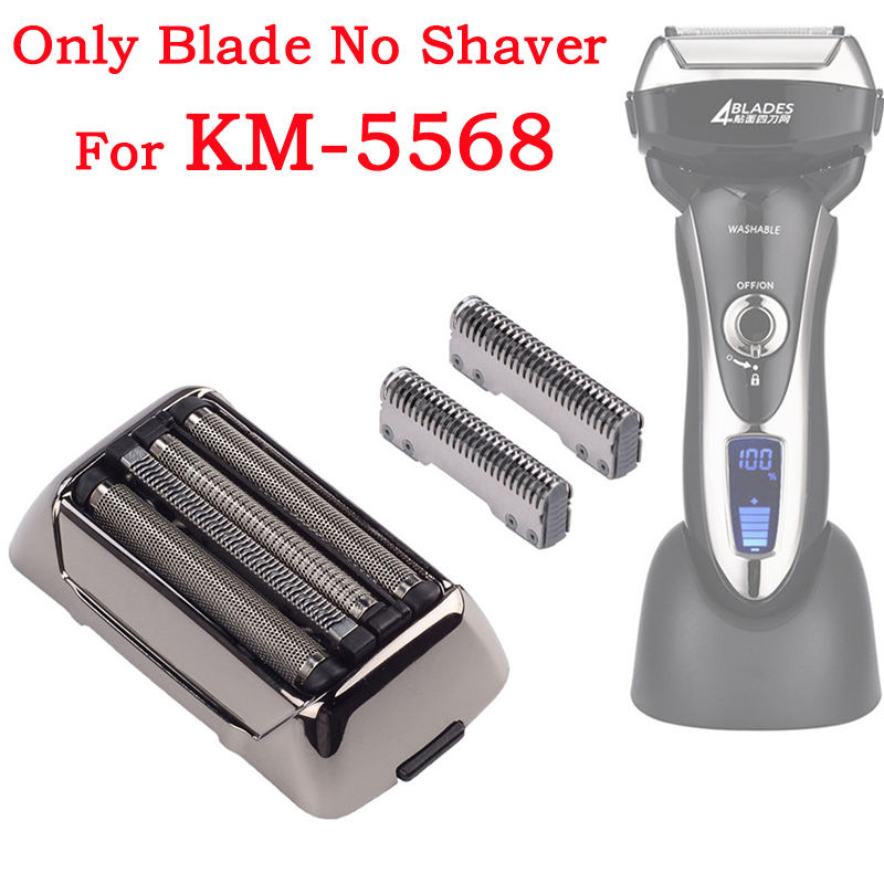 Replacement Blade Head For Kemei Shaver KM-5568 Razor Mesh Foil Spare Parts For Kemei Beard Trimmer 31