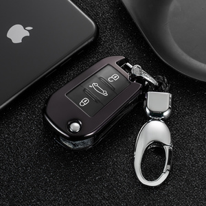 Image 2 - New TPU Flip Car Key Case Full Cover for Citroen C4 CACTUS C5 C4L Peugeot 508 301 2008 3008 408 Scratch resistant Button protect