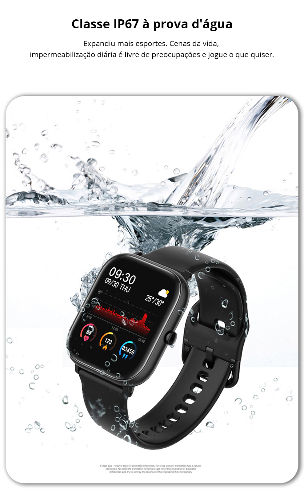 Hf4c6bc17f3a24743aa19491503cad267k SQR P8 SE Smart Watch Men Women 1.4 Inch Fitness Tracker Full Touch Screen Ip67 Waterproof Heart Rate Monitor for iOS Android