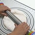 Регулируемая Скалка с тестом коврик для помадки  пирога  печенья толщина легко чистить нержавеющая сталь Скалка Декор Инструменты для выпе...