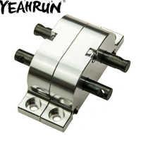 YEAHRUN Nastro Nero di Alluminio Grande Caso di Trasferimento per 1/10 RC Crawler 1:14 Camion SCX10 D90 RC Buggy