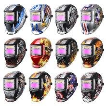 Сварочная маска JALU с автоматическим затемнением, шлем/крышка/линза для работ с солнечной батареей, для сварки TIG MAG MIG
