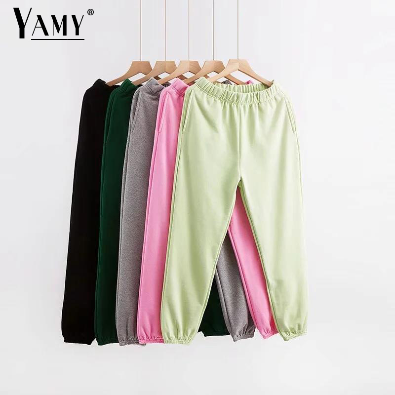 Black Casual Joggers Women Cargo Pants High Waist Womens Joggers Sweatpants Korean Sweat Pants With Pockets Female Joggers Mujer