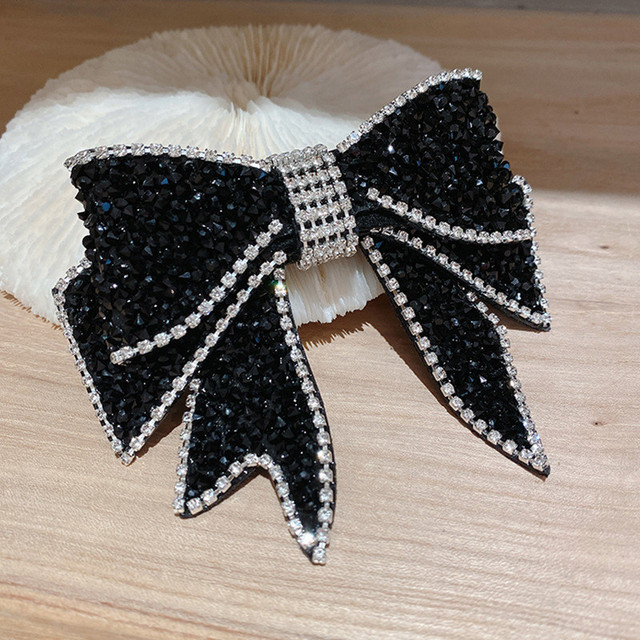 FYUAN-épingles à cheveux en cristal pour femmes, Bijoux noirs, strass, accessoires de cheveux, Bijoux, cadeaux danniversaire