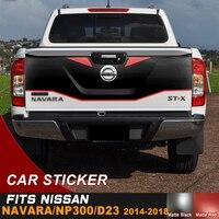 Porta da cauda capa adesivo 4 por 4 decalque legal vinil gráfico adesivo para nissan navara np300 d23|Adesivos para carro| |  -