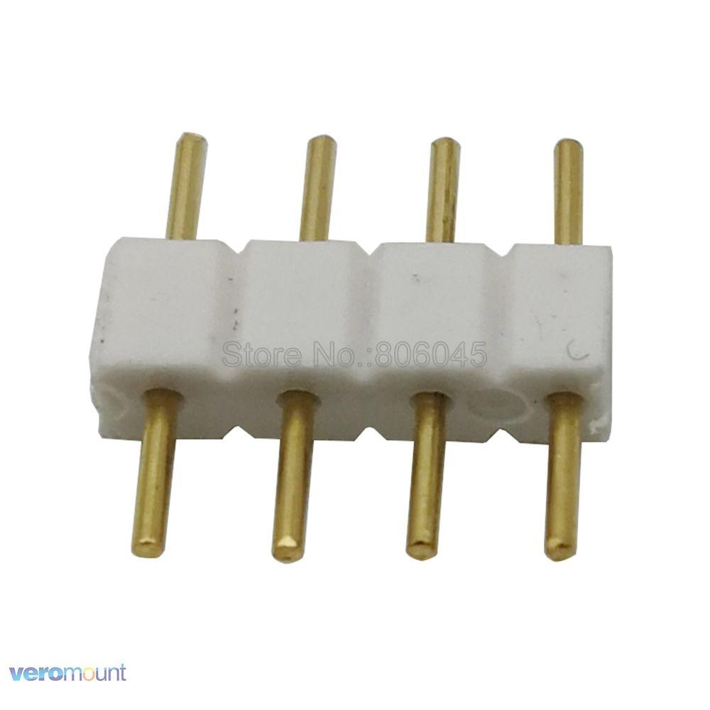 10 шт. 4 Pin 4-контактный разъем RGB адаптер мужской и женский разъем контактный разъем иглы для 5050 3528 RGB Светодиодные ленты света светодиодный ак...