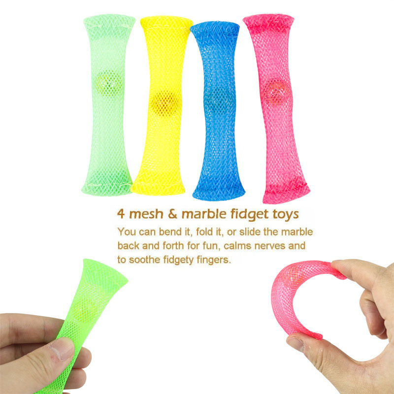 Toy-Set Fidget-Toys Mesh Marble Relief-Gift Stretchy-Strings Anti-Stress Sensory Girl img4