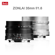 Zonlai 35mm F1.6 Manual Prime Lens for Fuji for Sony E-mount for Micro 4/3 a6400 X-T3 X-T4 XS-10 X-E3 X-A2 Mirrorless Camera
