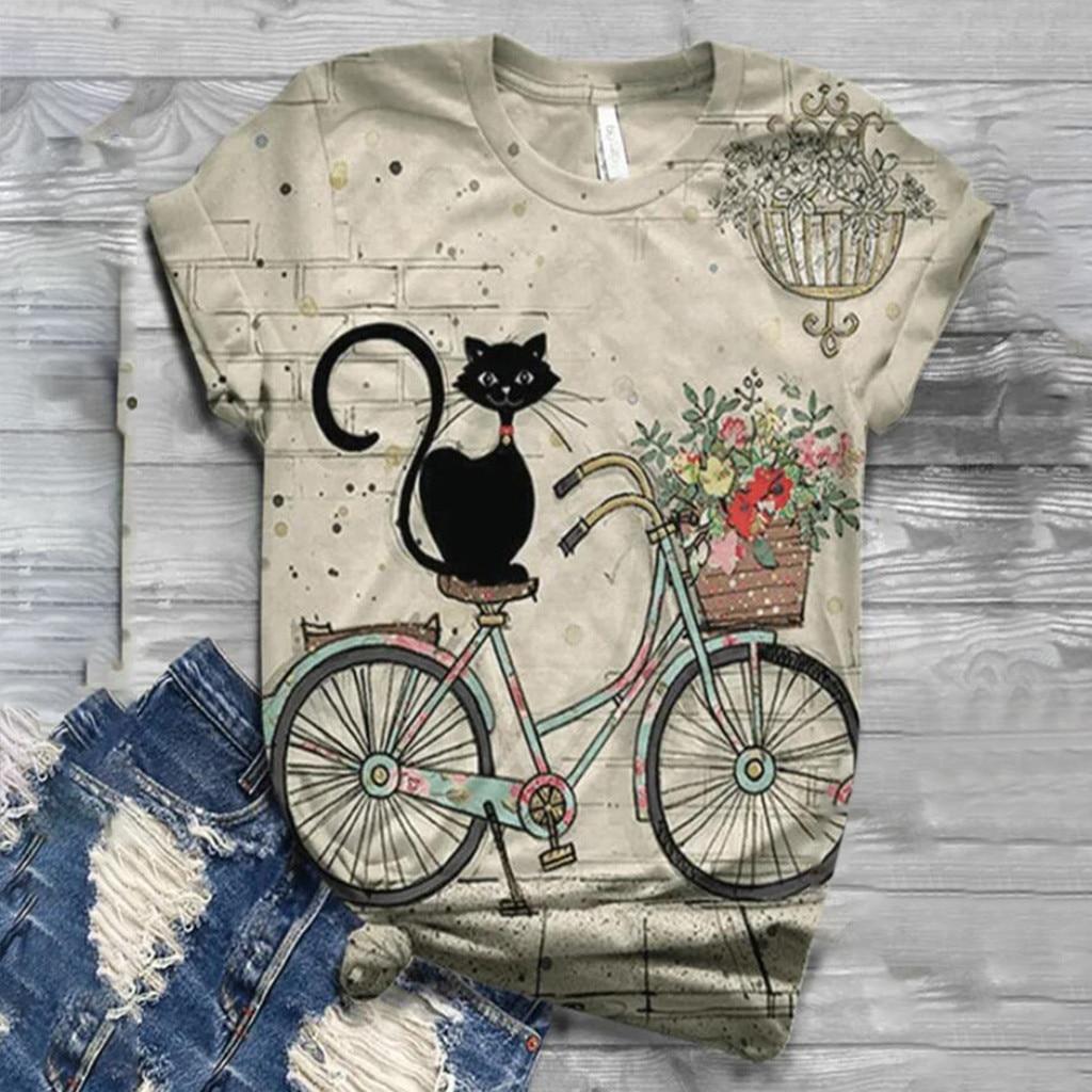 Tshirt Women Plus Size Short Sleeve 3D Animal Printed O-neck Tops Tee T-shirt Ropa Mujer Top Women Harajuku T Shirt Haut Femme