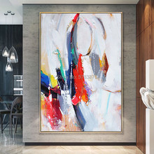 Hand-painted Fashion color Wall Art red Abstract Oil Painting on Canvas modern bright wall picture for Living Room 2020 christmas gift modern paintings abstract gold oil painting 100% hand painted on canvas for living room decoration wall art