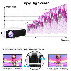 Image 3 - Salange E400S LED Projector, Mini Projector for smartphone, Wireless or USB Mirror For iPhone Android phone, Wifi Video Beamer