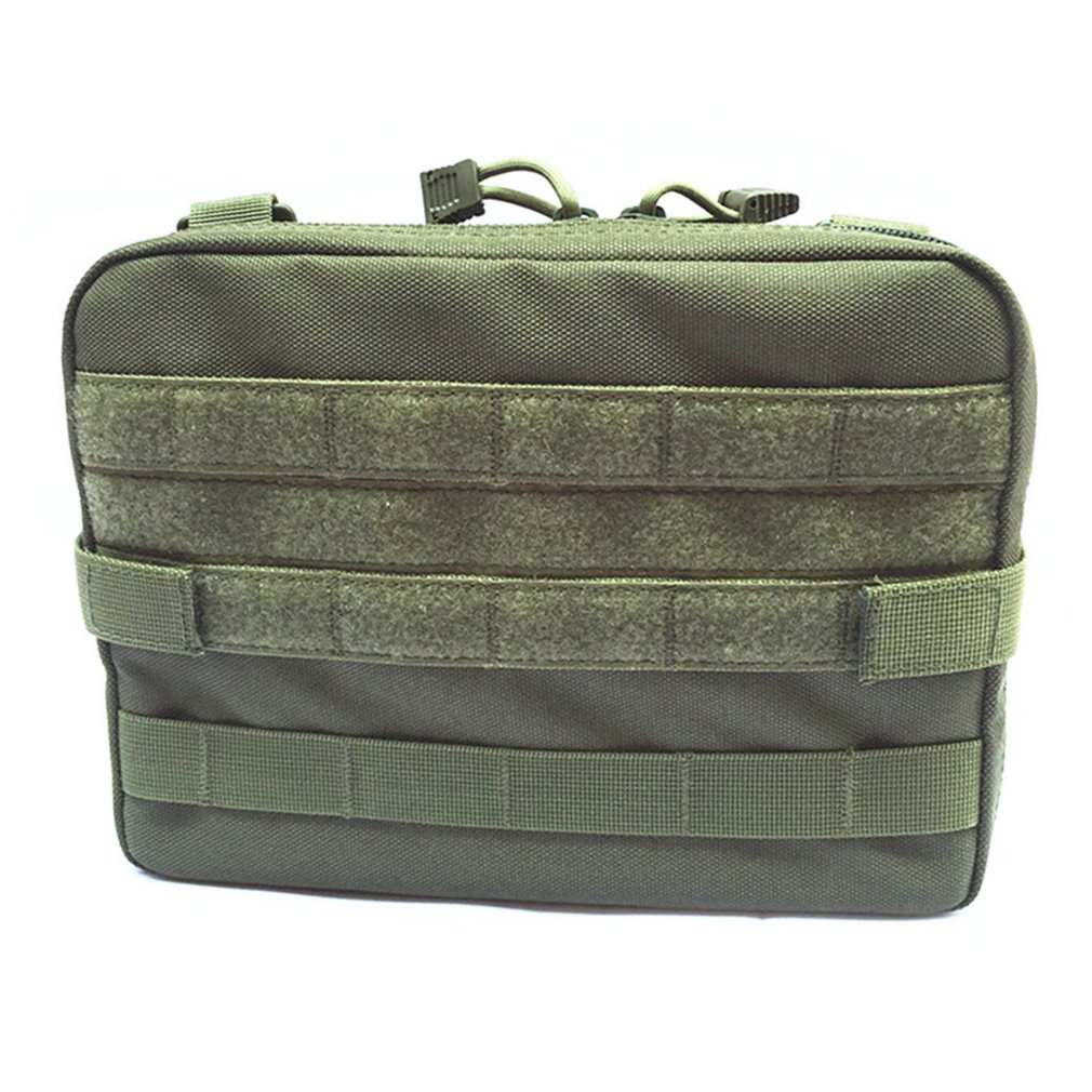 Waterproof Outdoor Tactical Bag Small Tool Holder Bag Large Zippered Waist Pack Molle Attachment Pouch For Camping Hiking