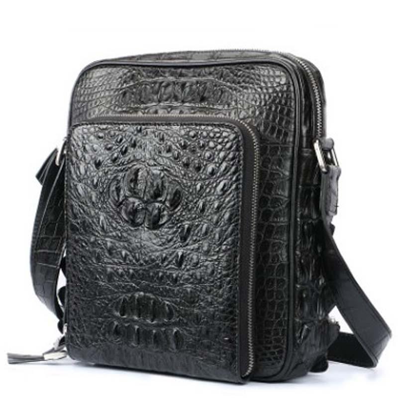 dongou crocodile Men\'s bags crocodile leather men high-grade Inclined Single shoulder bag men bag