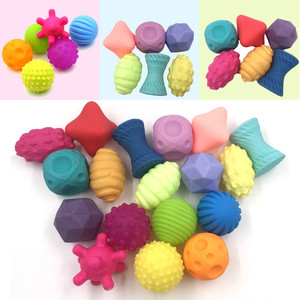 6pcs Baby Hand Ball Toys Infant Touch Training Massage Tool Soft Rubber Textured Multi Sensory Tactile Ball Toy(China)
