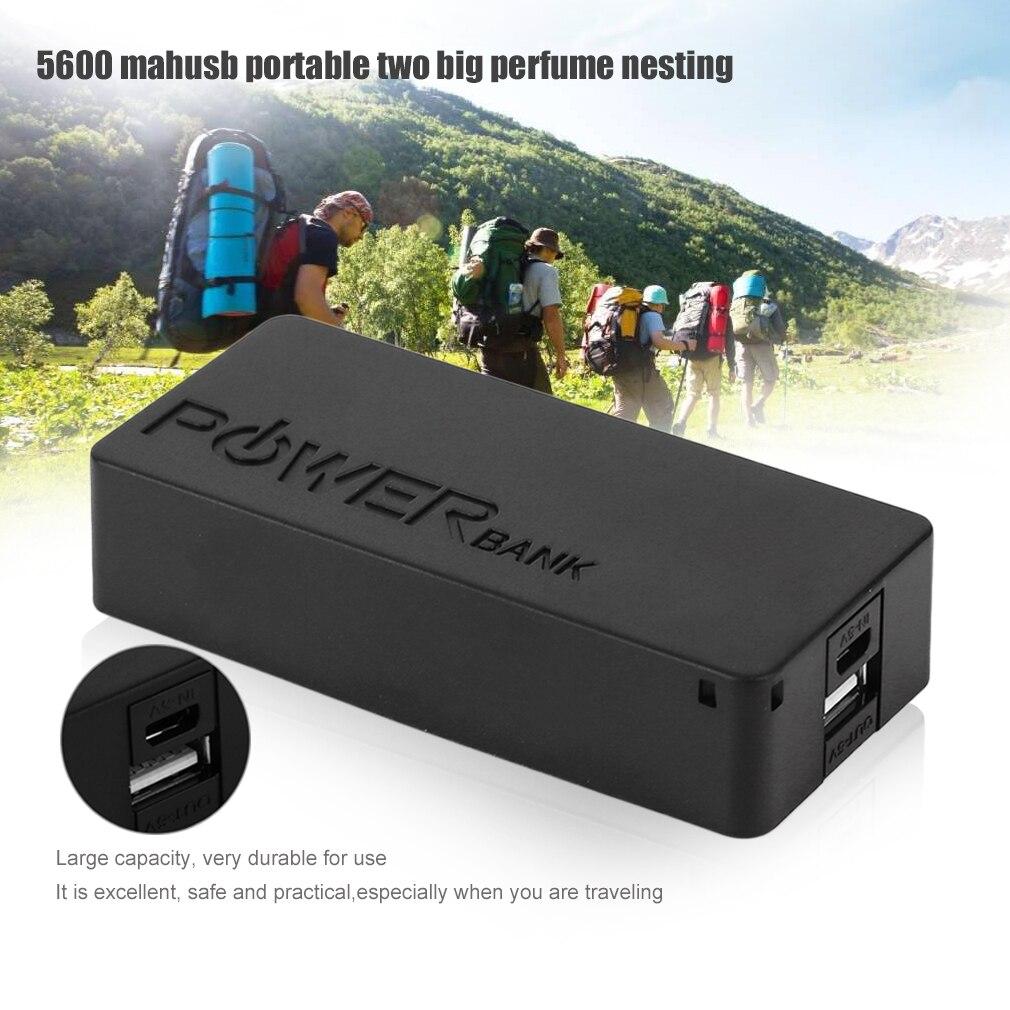 5600mAh 5V USB DIY Powerbank Case Portable External 2X18650 Battery Storage Box Power Bank Case Box