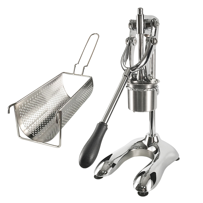 Manual Press Fried Potato French Fries & Chips Cutter Dispenser Super Long French Fries Makers Machines Long Potato Machine