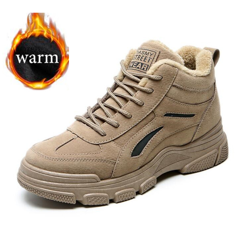 2019 Winter Shoes Plush Shoes Women Ankle Boots Male Shoes Adult Casual Quality Rubber Ankle Warm Boots