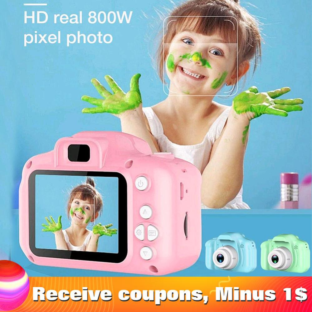 Children Mini Cute Video Camera 2.0 Inch Take Picture Camera 1080P HD Boys Girls Best Birthday Gifts Kids Digital Camera CMOS