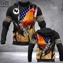 rooster 3d Printed Unisex hoodies hip hop Fashion Hooded Sweatshirt zip hoodies men for women drop shipping