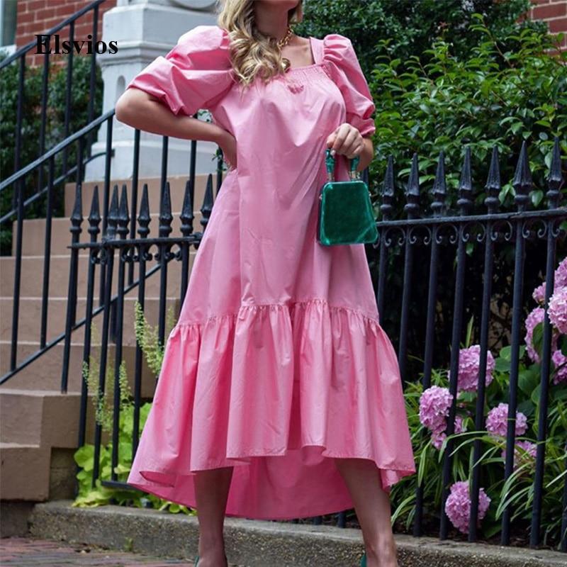 Vintage Cotton Linen Long Dress Casual Loose Plus Size Women Maxi Dress Sexy Elegant V Neck Lantern Sleeve Party Dress Vestidos
