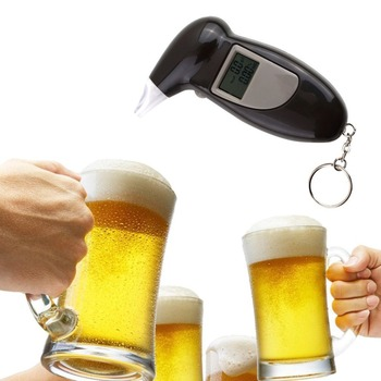 цена на Digital Alcohol Breath Tester Breathalyzer Analyzer Detector Test Keychain Breathalizer Breathalyser Device LCD Display