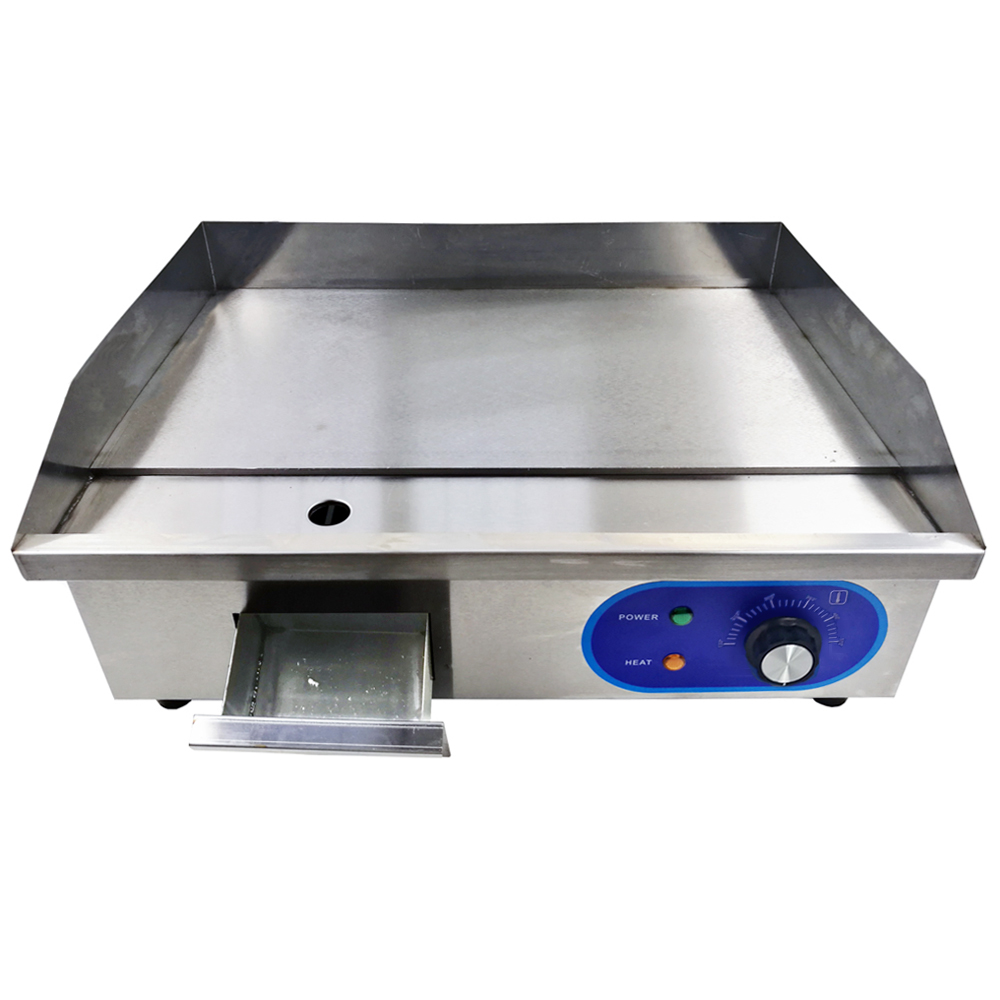 3KW Electric Grill Griddles With All Flat Pan Counter Top Commercial Stainless Steel Electric Frying Pans Fryer