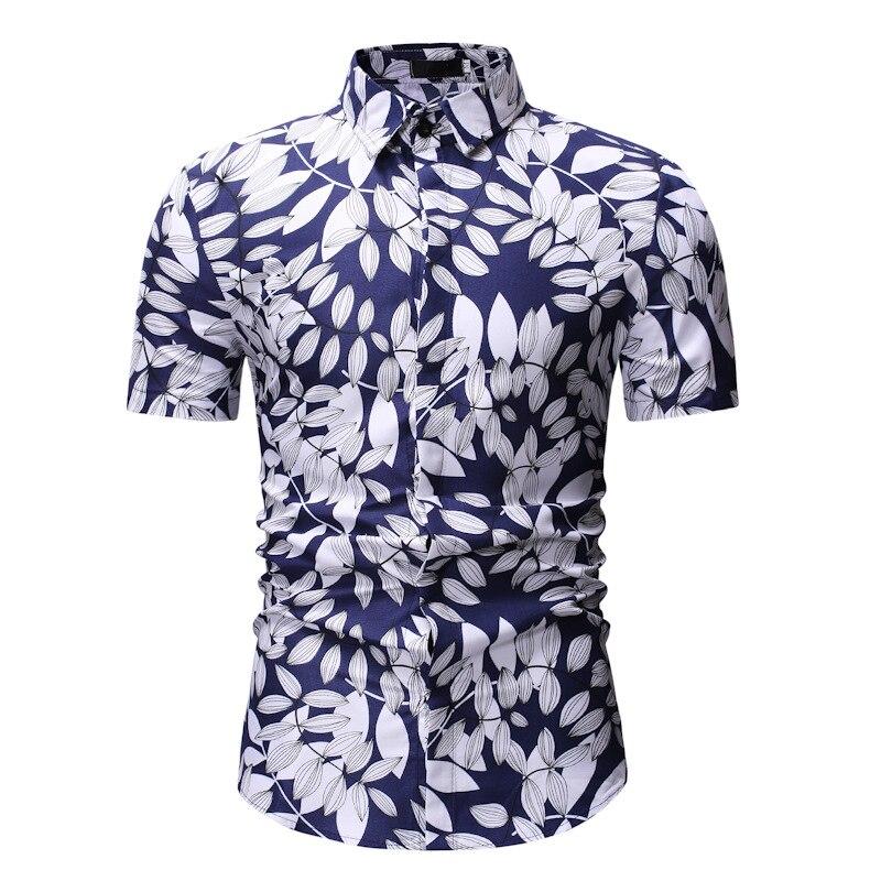 EBay AliExpress MEN'S Shirt 2019 Summer New Products Men's Casual Short Sleeve Printed Shirt Ys09