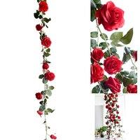Искусственный цветок из шелка цветы листок розы украшение из плюща дома Свадьба Цветок Сад Хэллоуин Рождественские цветы Deoration